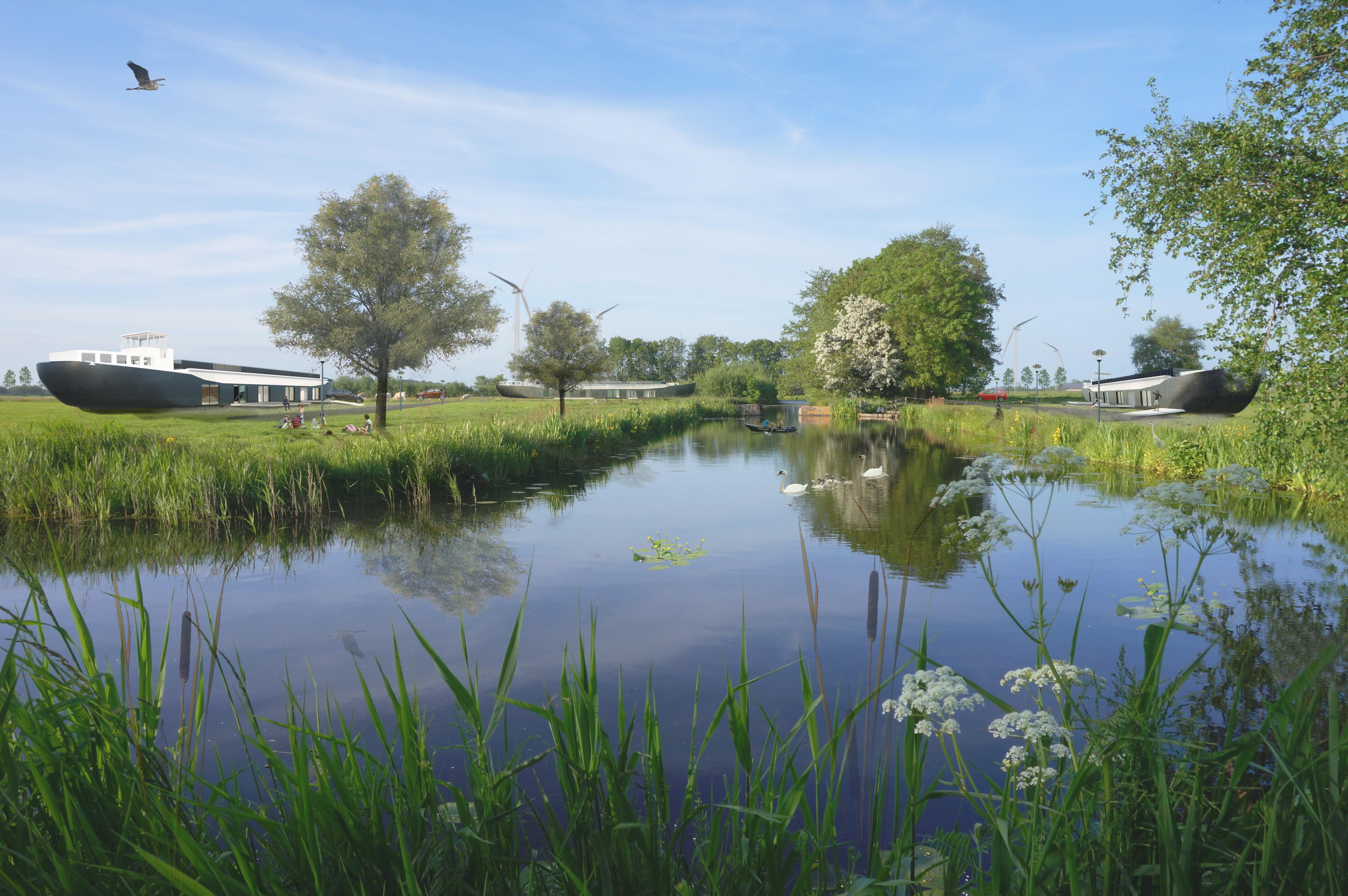 5. De bestaande landschappelijkekwaliteiten als uitgangspunt, MDE geintergreerd in het polderlandschap